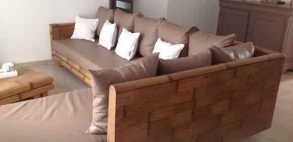 bamboebeddeb en meubels voor slaapkamer woonkamer serre en tuin