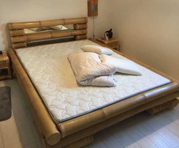 Bed In Woonkamer : Bamboebeddeb en meubels voor slaapkamer woonkamer serre en tuin.