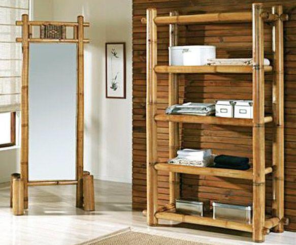 Woonkamer Met Boekenkast : Bamboebeddeb en meubels voor slaapkamer woonkamer serre en tuin.