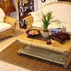 Bamboe woonkamer meubelset Louvre
