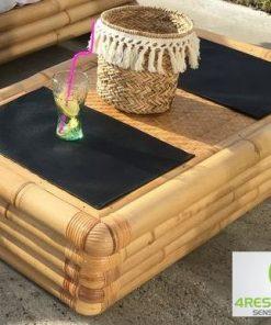 Retro klassiek in Louvre style bamboe salon tafel